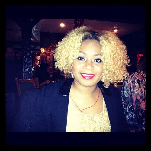 My bantu twist out a week later. - Blonde, 3b, 3c, Medium hair styles, Readers, Female, Curly hair, Makeovers, Adult hair, Formal hairstyles, Bantu knots, Bantu knot out, Twist out, Curly kinky hair Hairstyle Picture