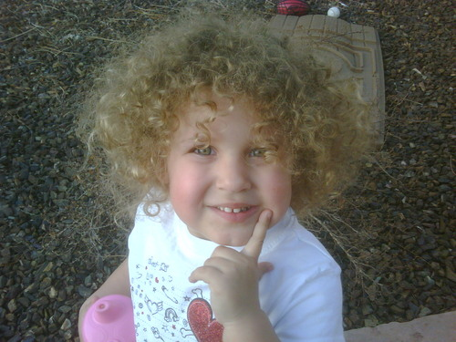 Curly Girl - Blonde, 3b, Medium hair styles, Kids hair, Afro, Readers, Curly hair Hairstyle Picture