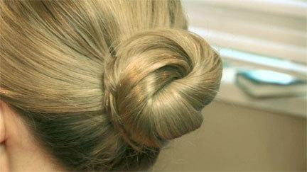 Knot Hairstyle - Blonde, Updos, Wedding hairstyles, Styles, Female, Adult hair, Straight hair, Prom hairstyles, Formal hairstyles, Homecoming hairstyles, Knots, Buns Hairstyle Picture