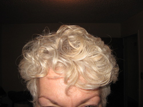 Growing out a short cut - Blonde, 3a, Medium hair styles, Readers, Female, Curly hair Hairstyle Picture