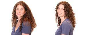 Rebecca, before and after - Redhead, Long hair styles, Female, Curly hair, Makeovers Hairstyle Picture