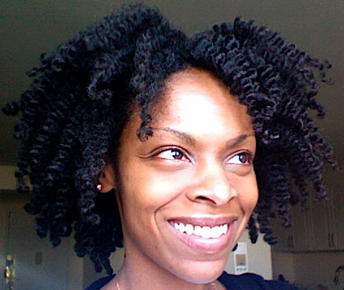 Two Years! - 4b, Medium hair styles, Kinky hair, Twist hairstyles, Readers, Female, Black hair, Adult hair, Curly kinky hair Hairstyle Picture
