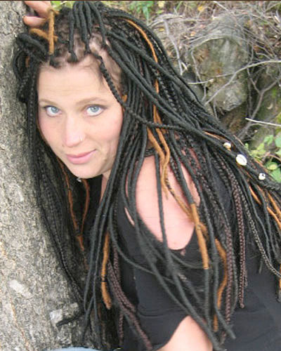 Silky Dreads - Brunette, Long hair styles, Styles, Female, Adult hair, Hair extensions, Dreadlocks, Dreadlock extensions, Silky dreads Hairstyle Picture