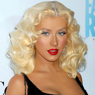 Christina Aguilera - Blonde, 2b, Celebrities, Wavy hair, Medium hair styles, Special occasion, Female, 2c Hairstyle Picture