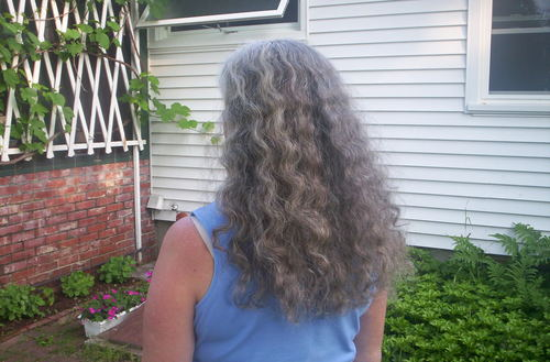 Giving in to the Curl - 3a, Long hair styles, Readers, Female, Curly hair, Gray hair Hairstyle Picture