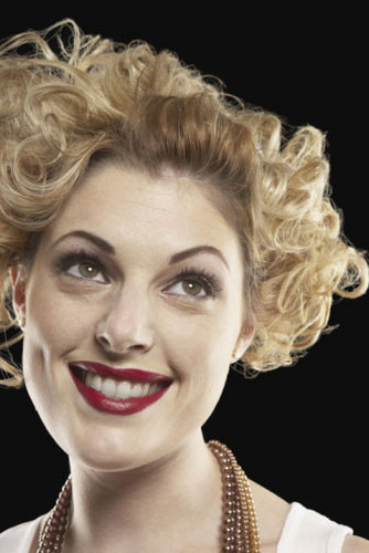 Pincurls - Blonde, Short hair styles, Styles, Female, Curly hair, Adult hair, Pin curls Hairstyle Picture