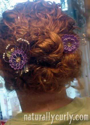 Messy Bun - Redhead, Wedding hairstyles, Styles, Female, Curly hair, Adult hair, Prom hairstyles, Homecoming hairstyles, Buns Hairstyle Picture