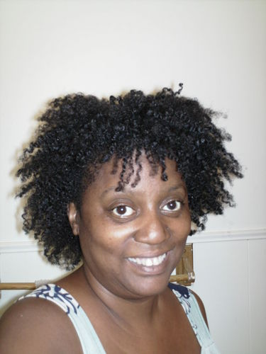 Braid Out - 4b, Mature hair, Medium hair styles, Kinky hair, Readers, Female, Black hair, Adult hair, Braid out Hairstyle Picture
