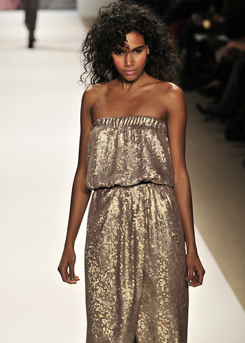 Tibi Fall 2010 - Courtesy of Run - 3c, Medium hair styles, Kinky hair, Styles, Female, Curly hair, Black hair, Adult hair, Prom hairstyles, Formal hairstyles Hairstyle Picture