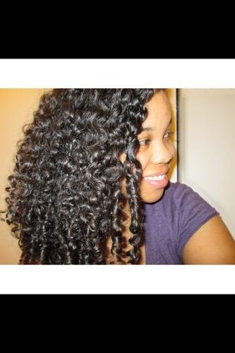 Happy! - 3b, Medium hair styles, Long hair styles, Readers, Female, Curly hair, Black hair, Adult hair Hairstyle Picture