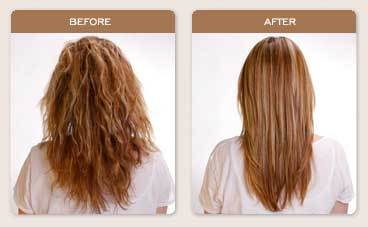 Brazilian Blowout Straightening - Blonde, Wavy hair, Long hair styles, Female, Makeovers, Adult hair, Straight hair Hairstyle Picture