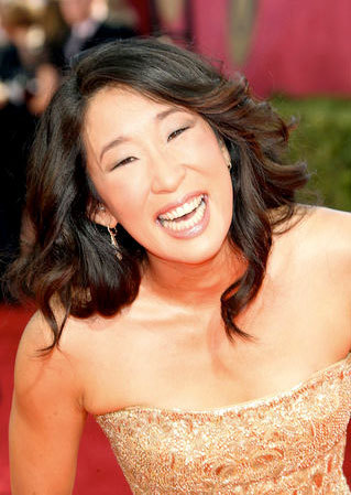 Sandra Oh - Brunette, Celebrities, Long hair styles, Female, 2009 Emmy Awards Hairstyle Picture