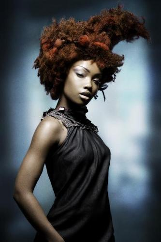 Dimitrios Tsioumas  - Brunette, 3c, Short hair styles, Kinky hair, Afro, Styles, Female Hairstyle Picture