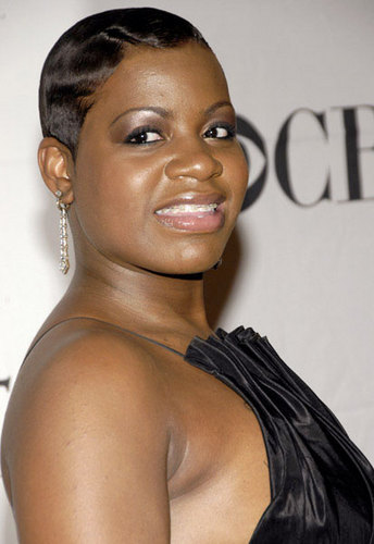 Fantasia - Brunette, Celebrities, Short hair styles, Female, Black hair, Adult hair, Finger waves Hairstyle Picture