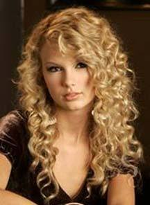 Taylor Swift - Blonde, 3a, Celebrities, Long hair styles, Female, Curly hair Hairstyle Picture