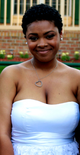 My Prom Picture :) - Brunette, 3c, Very short hair styles, Readers, Female, Curly hair, Teen hair, Prom hairstyles, Teeny weeny afro, Twist out, Natural Hair Celebration Hairstyle Picture