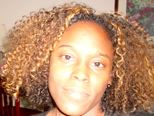Comfortable with Curls - Blonde, Medium hair styles, Kinky hair, Readers, Female, Adult hair Hairstyle Picture