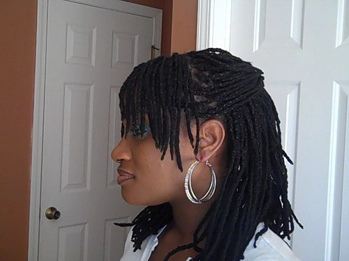 Yarn Braid Updo - Brunette, Kinky hair, Long hair styles, Readers, Female, Curly hair, Teen hair, Adult hair Hairstyle Picture