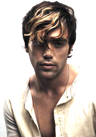 Hi-lighted Waves - 2a, Brunette, Blonde, Wavy hair, Male, Short hair styles, Styles, Teen hair Hairstyle Picture
