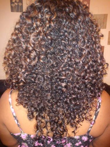 My wash and go style - Brunette, 3b, 2b Hairstyle Picture