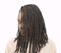 Senegalese Twists - Brunette, Long hair styles, Styles, Female, Adult hair, Senegalese twists, Hair extensions Hairstyle Picture