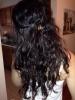Wavy hair style