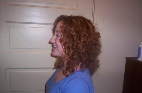 Haircut left - Redhead, 3b, 3a, Medium hair styles, Readers, Styles, Female, Curly hair, Adult hair Hairstyle Picture