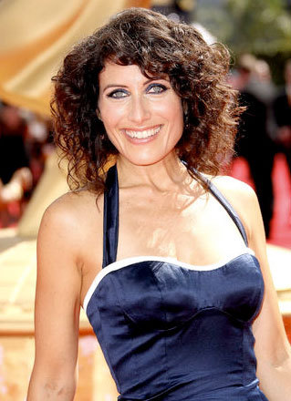Lisa Edelstein - Brunette, Celebrities, Medium hair styles, Female, Curly hair, 2009 Emmy Awards Hairstyle Picture