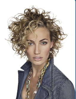 Aquage: short and curly - Blonde, 3a, Short hair styles, Styles, Female, Curly hair Hairstyle Picture