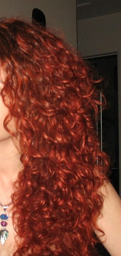 3a Front of hair (taken indoors) - Redhead, Long hair styles, Readers, Female, Curly hair, Adult hair Hairstyle Picture