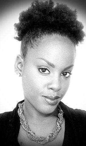 My daughters stylish puff. - Medium hair styles, Updos, Readers, Female, Black hair, Adult hair, 4c Hairstyle Picture