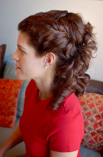 Formal Curly Look - Brunette, Female, Formal hairstyles, Spiral curls Hairstyle Picture