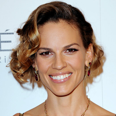 Hilary Swank - Blonde, Celebrities, Wavy hair, Short hair styles, Medium hair styles, Female, Curly hair, Spiral curls, Bob hairstyles Hairstyle Picture