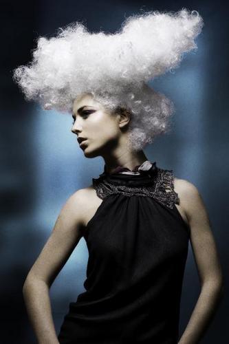Dimitrios Tsioumas  - 4a, Medium hair styles, Afro, Styles, Female, Gray hair Hairstyle Picture