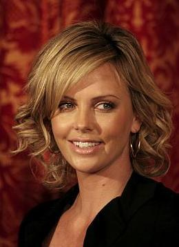 Charliza Theron - Blonde, Celebrities, Medium hair styles, Female, Curly hair, Spiral curls, Bob hairstyles Hairstyle Picture