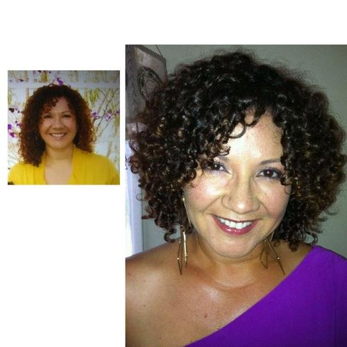 Kathys Kurly Make-Over - Brunette, Short hair styles, Adult hair, Bob hairstyles, Layered hairstyles Hairstyle Picture
