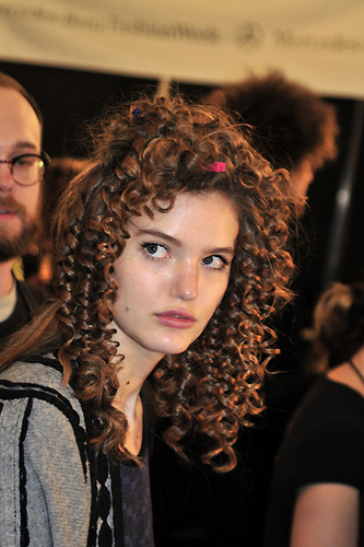 Tibi Fall 2010 - Courtesy of Run - Redhead, 3a, Styles, Female, Curly hair, Formal hairstyles Hairstyle Picture