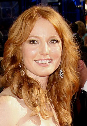 Alicia Witt - Redhead, Celebrities, Wavy hair, Long hair styles, Female, 2009 Emmy Awards Hairstyle Picture
